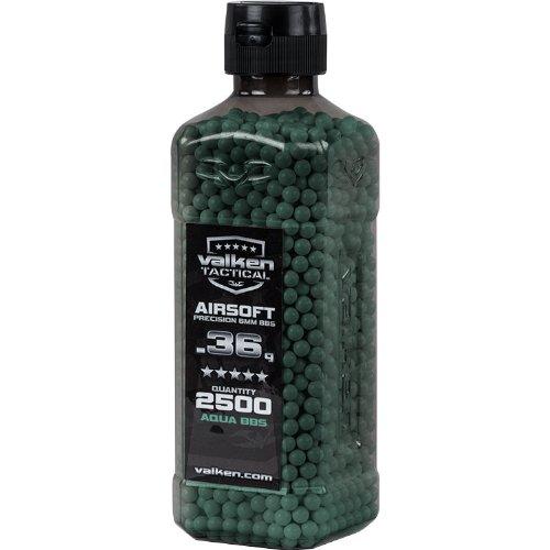 Valken Airsoft BBs - 0.36g Bottle, 2500 Count, Aqua