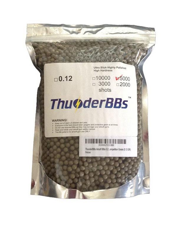 TBB0.12 ThunderBBs Airsoft BBs 0.12G, White or Brown