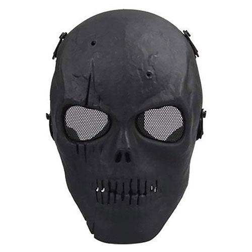 Coxeer M01 Army Skull Skeleton Airsoft Paintball Bb Gun Game Face Mask (Black)