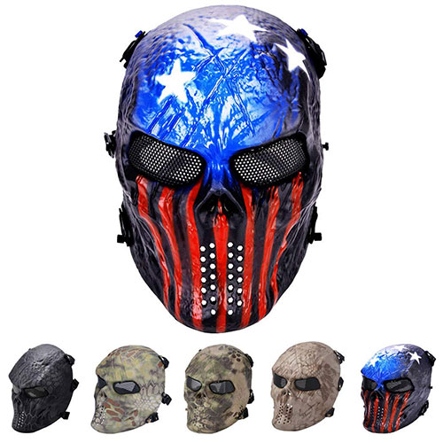 Outgeek Tactical Airsoft Mask Full Face Costume Mask(Urban)