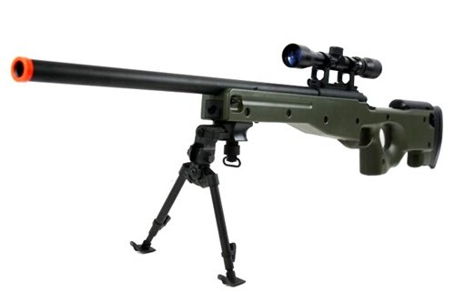 BBTac BT-96 Bolt Action Sniper Rifle w/ 3-9x Scope and Bipod - OD GREEN