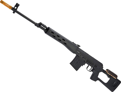 Evike A&K SVD Dragunov Bolt Action Airsoft Sniper Rifle (Color: Stealth Black)