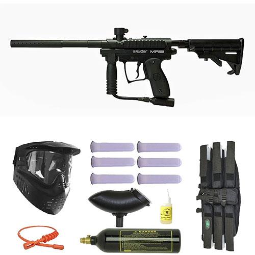 Spyder MR100 Pro Paintball Marker Gun 3Skull Mega Set