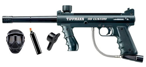 Tippmann 98 Custom Paintball Power Pack (Black)