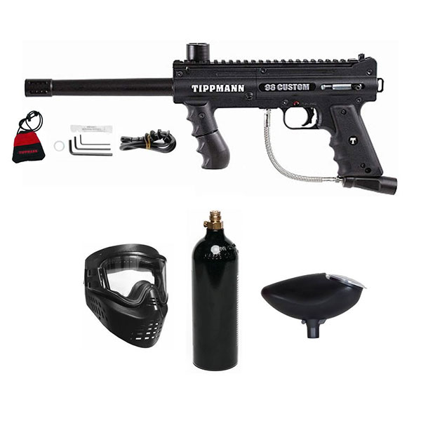 Tippmann Platinum 98 Custom Paintball Marker Gun 3Skull Package