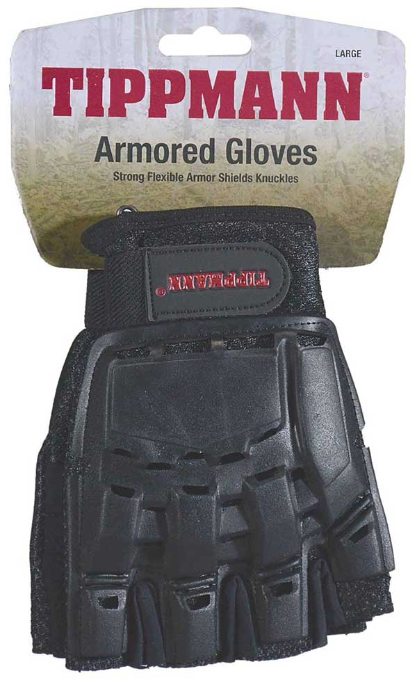 Tippmann Armored Gloves - Hard Back / Fingerless