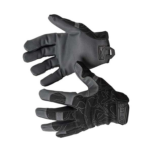 5.11 High Abrasion Tac Glove Men's Military Full Finger High Abrasion Tactical Gloves, Style 59371, Black, Medium