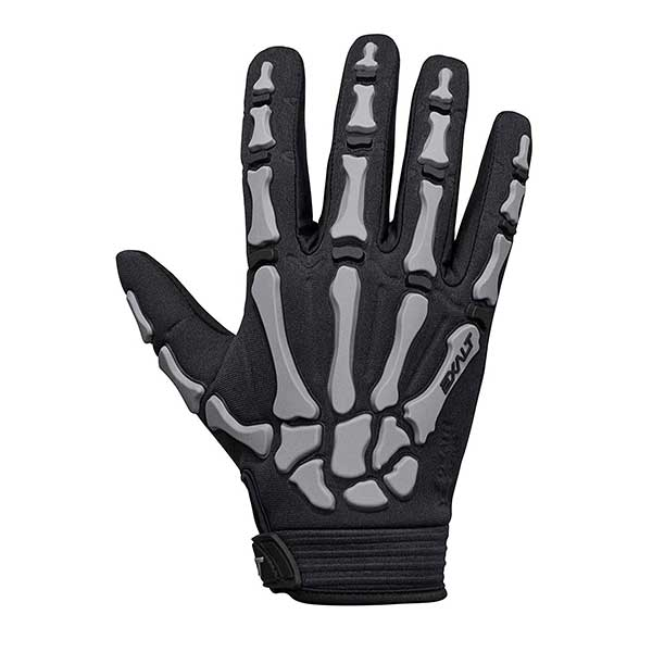 Exalt Death Grip Paintball Glove - Full Finger Skeleton Hand Glove with Bones