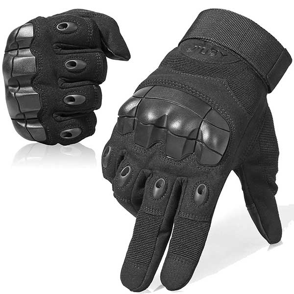 WTACTFUL Touch Screen Military Rubber Hard Knuckle Tactical Gloves Full Finger and Half Finger Cycling Motorcycle Gloves