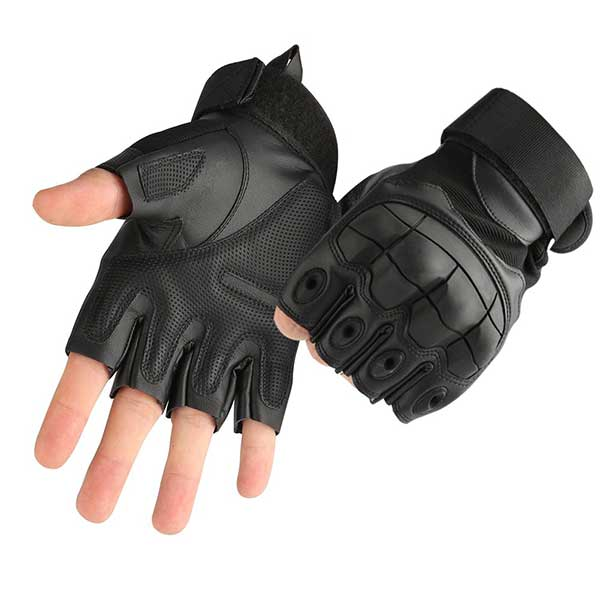 accmor Tactical Gloves Military Rubber Hard Knuckle Gloves Fingerless/Half Finger Outdoor Gloves Fit for Cycling Airsoft Paintball Motorcycle Hiking Camping