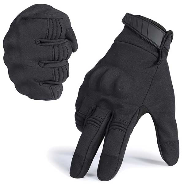 JIUSY Winter Windproof Warmer Touch Screen Military Rubber Hard Knuckle Tactical Gloves Full Finger Gloves for Cycling Motorcycle Hunting Gear