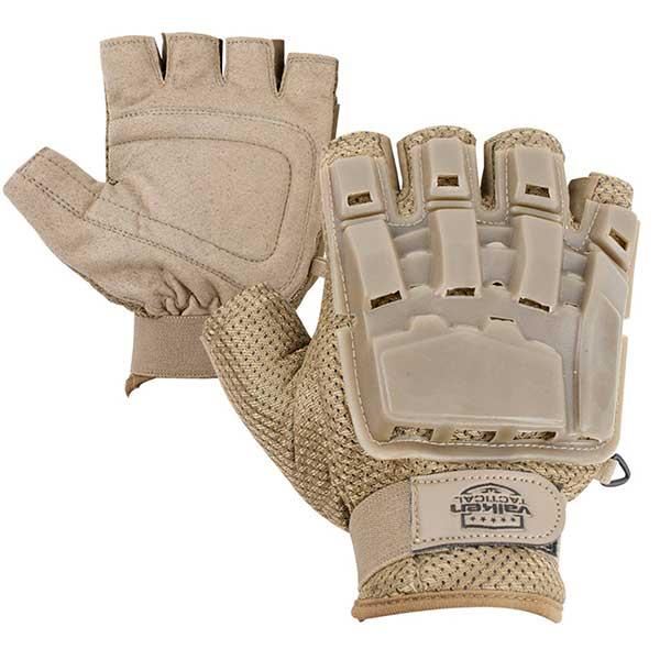 Valken V-TAC Half Finger Plastic Back Airsoft Gloves